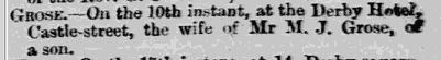 birth of Eden H Grose Isle of Man Times Saturday January 18 1879 Page 5